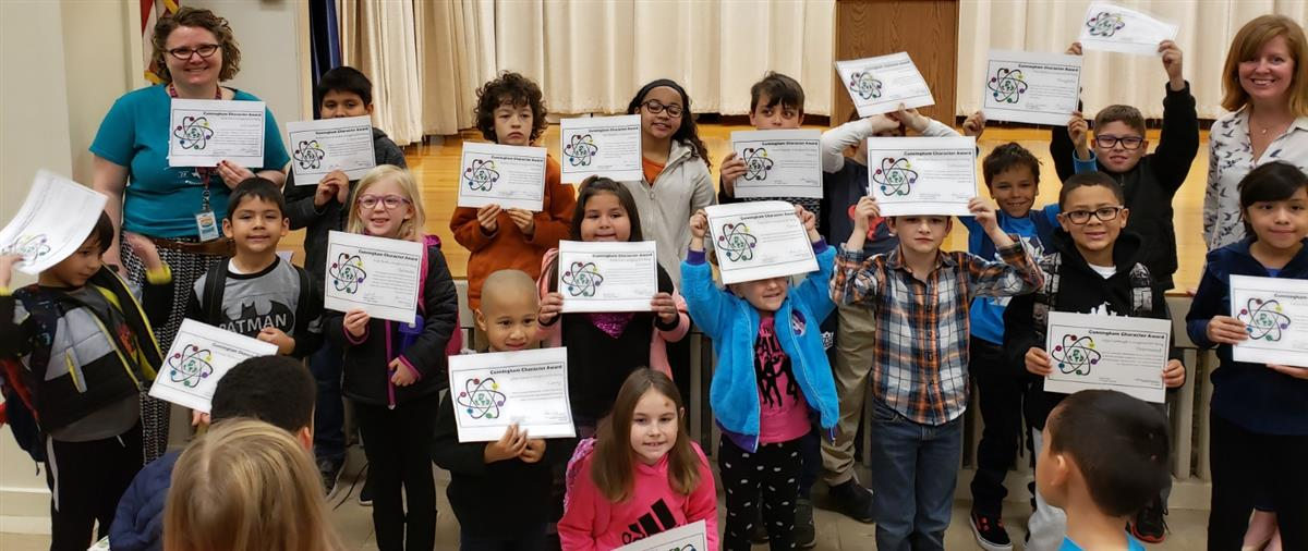 Students celebrate their Cobra Character Awards