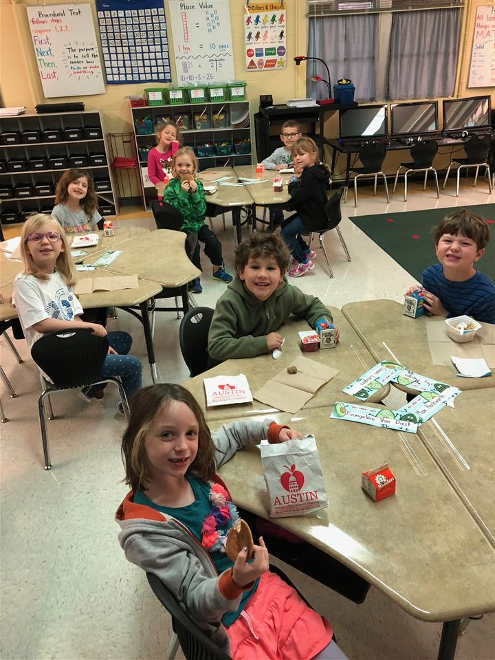 Students Enjoying Breakfast in Classroom